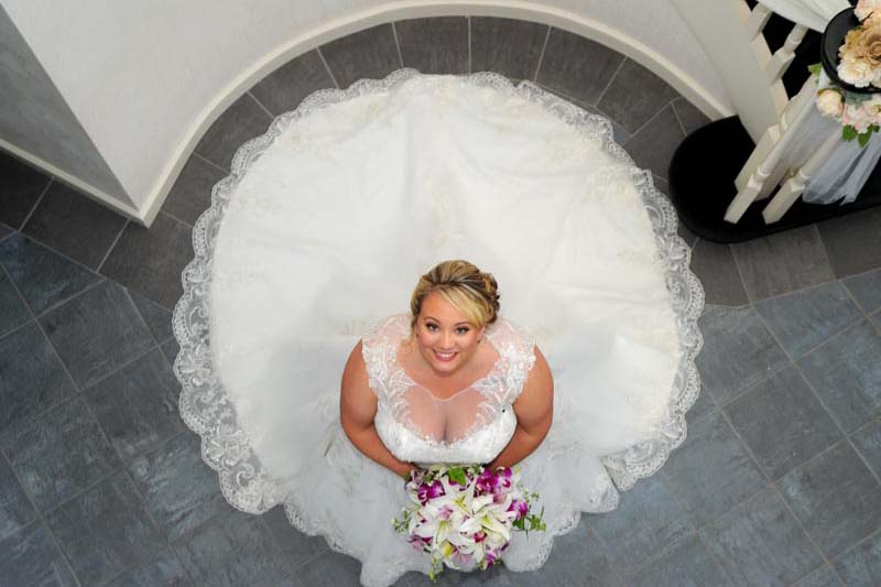 Beautiful Bride Standing in the Vestibule
