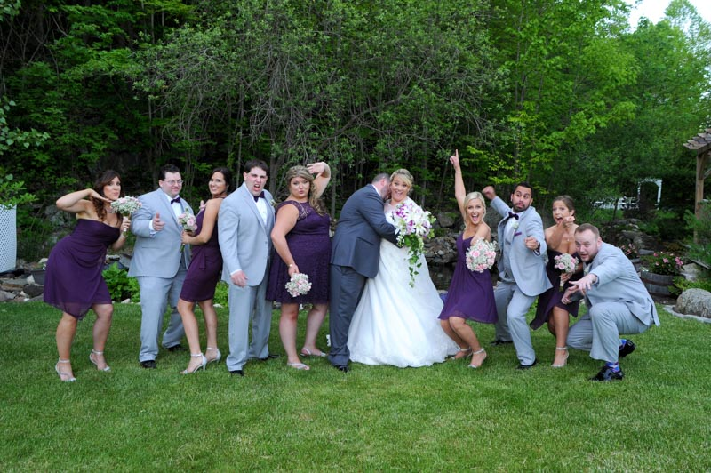 Portrait of Wedding Party at Crystal Peak